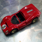 Ferrari 330 P4  1:36 scale red #3 Loose die-cast model car Unknown maker @SOLD@